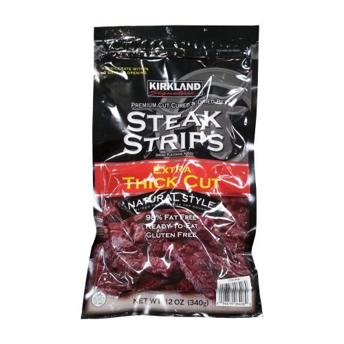Kirkland Extra Thick Cut Steak Strips 12 oz - Click Image to Close